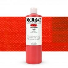 Golden : Fluid : Acrylic Paint : 473ml (16oz) : Pyrrole Red Light