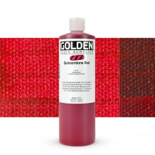 Golden : Fluid : Acrylic Paint : 473ml (16oz) : Quinacridone Red