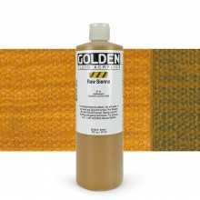 Golden : Fluid : Acrylic Paint : 473ml (16oz) : Raw Sienna