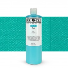 Golden : Fluid Acrylic Paint : 473ml (16oz) : Teal III