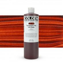 Golden : Fluid : Acrylic Paint : 473ml (16oz) : Transparent Red Iron Oxide