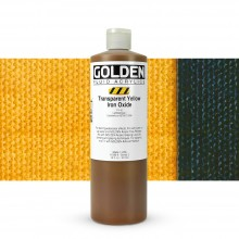 Golden : Fluid : Acrylic Paint : 473ml (16oz) : Transparent Yellow Iron Oxide