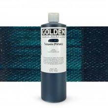 Golden : Fluid Acrylic Paint : 473ml (16oz) : Turquoise (Phthalo)