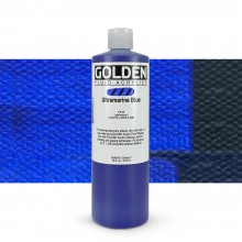 Golden : Fluid : Acrylic Paint : 473ml (16oz) : Ultramarine Blue