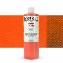 Golden : Fluid : Acrylic Paint : 473ml (16oz) : Vat Orange