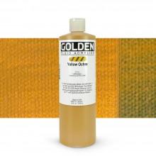Golden : Fluid : Acrylic Paint : 473ml (16oz) : Yellow Ochre