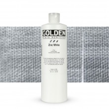 Golden : Fluid Acrylic Paint : 473ml (16oz) : Zinc White