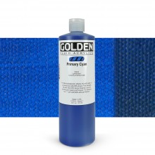 Golden : Fluid : Acrylic Paint : 473ml (16oz) : Primary Cyan