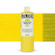Golden : Fluid Acrylic Paint : 473ml (16oz) : Cadmium Yellow Medium Hue