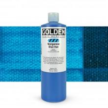 Golden Acrylic Paint : Fluid : 473ml : Manganese Blue Hue