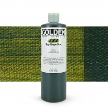 Golden Acrylic Paint : Fluid : 473ml : Sap Green Hue