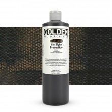 Golden Acrylic Paint : Fluid : 473ml : Vandyke Brown Hue