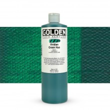 Golden : Fluid Acrylic Paint : 473ml (16oz) : Viridian Green Hue