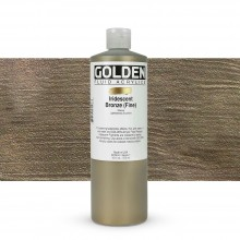 Golden : Fluid : Acrylic Paint : 473ml (16oz) : Bronze Fine Iridescent