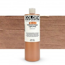 Golden : Fluid Acrylic Paint : 473ml (16oz) : Copper Light Fine Iridescent