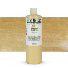 Golden : Fluid : Acrylic Paint : 473ml (16oz) : Gold Fine Iridescent