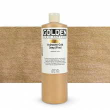 Golden : Fluid Acrylic Paint : 473ml (16oz) : Gold Deep Fine Iridescent
