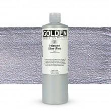 Golden : Fluid : Acrylic Paint : 473ml (16oz) : Silver Fine Iridescent