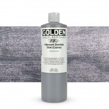 Golden : Fluid Acrylic Paint : 473ml (16oz) : Stainless Steel Coarse Iridescent