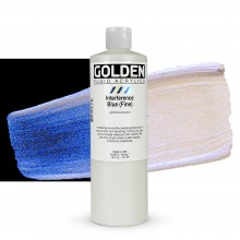 Golden : Fluid Acrylic Paint : 473ml (16oz) : Blue Fine Interference
