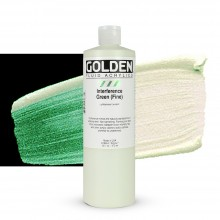 Golden : Fluid : Acrylic Paint : 473ml (16oz) : Green Fine Interference