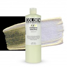 Golden : Fluid Acrylic Paint : 473ml (16oz) : Gold Fine Interference