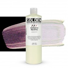 Golden : Fluid : Acrylic Paint : 473ml (16oz) : Red Fine Interference