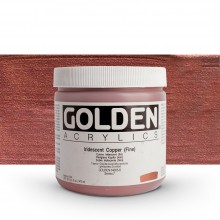 GOLDEN : HEAVY BODY ACRYLIC PAINT : 473ML : COPPER FINE IRIDESCENT