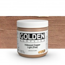 Golden : Heavy Body Acrylic Paint : 473ml : Copper Light Fine Iridescent