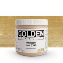 Golden : Heavy Body Acrylic Paint : 473ml : Gold Fine Iridescent