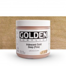 Golden : Heavy Body : Acrylic Paint : 473ml : Gold Deep Fine Iridescent