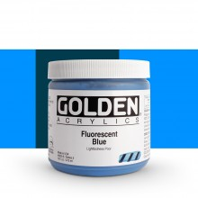Golden : Heavy Body Acrylic Paint : 473ml : Blue *Fluorescent*