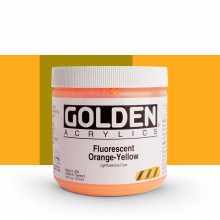 Golden : Heavy Body Acrylic Paint : 473ml : Orange Yellow *Fluorescent*