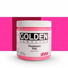 Golden : Heavy Body : Acrylic Paint : 473ml : Pink *Fluorescent*
