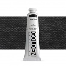 Golden : Heavy Body Acrylic Paint : 60ml : Bone Black