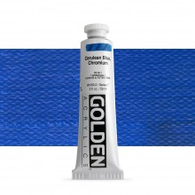 Golden : Heavy Body Acrylic Paint : 60ml : Cerulean Blue Chromium
