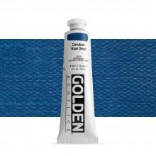 Golden : Heavy Body : Acrylic Paint : 60ml : Cerulean Blue Deep