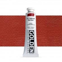 Golden : Heavy Body : Acrylic Paint : 59ml : Pure Cadmium Red Dark
