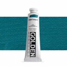 Golden : Heavy Body Acrylic Paint : 60ml : Cobalt Turquoise