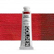 Golden : Heavy Body Acrylic Paint : 60ml : Naphthol Red Medium