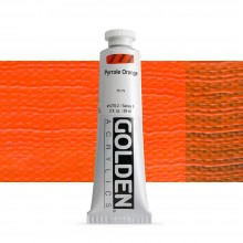 Golden : Heavy Body Acrylic Paint : 60ml : Pyrrole Orange