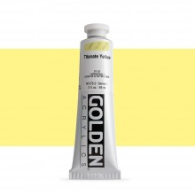 Golden : Heavy Body : Acrylic Paint : 60ml : Titanate Yellow