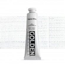 Golden : Heavy Body : Acrylic Paint : 60ml : Titanium White