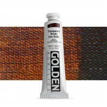 Golden : Heavy Body : Acrylic Paint : 60ml : Trans Brown Iron Oxide III New