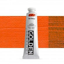Golden : Heavy Body Acrylic Paint : 60ml : Vat Orange