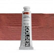 Golden : Heavy Body : Acrylic Paint : 60ml : Copper Fine Iridescent