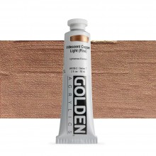 Golden : Heavy Body Acrylic Paint : 60ml : Copper Light Fine Iridescent