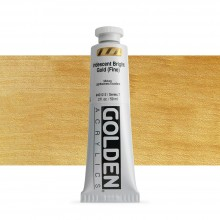 Golden : Heavy Body Acrylic Paint : 60ml : Bright Gold Fine Iridescent