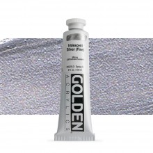 Golden : Heavy Body Acrylic Paint : 60ml : Silver Fine Iridescent