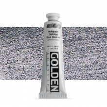 Golden : Heavy Body Acrylic Paint : 60ml : Stainless Steel Coarse Iridescent